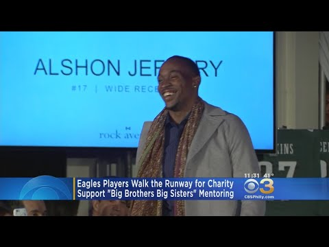 Eagles Players Walk The Runway for Charity