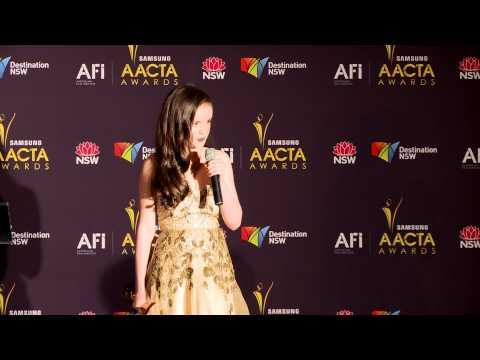 Lara Robinson, media room, AACTA AWARD FOR BEST YOUNG ACTOR  Cloudstreet