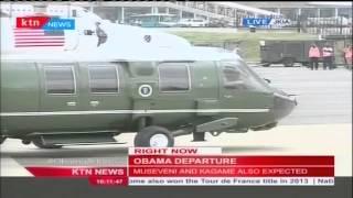 President Barack Obama arrives at JKIA ready for take off