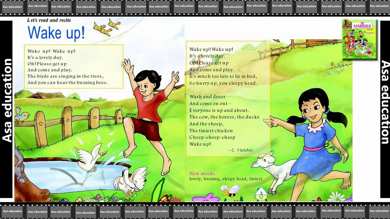 Poem 1 Wake Up (English - Marigold, Grade 4, CBSE) Poem in