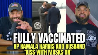 Vaccinated VP Kamala Harris And Husband Kiss With Masks On