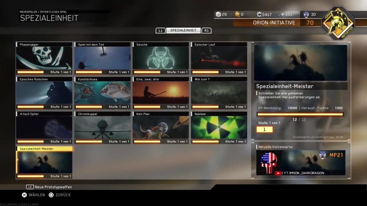Alle Spezialeinheit Aufträge Und Visitenkarten In Call Of Duty Infinite Warfare