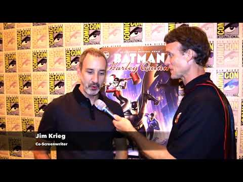 Jim Krieg (Co-Screenwriter) interview at Batman and Harley Quinn Premiere at SDCC