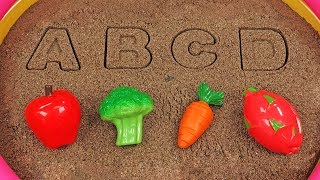 A, B, C, D! LEARN FRUITS AND VEGETABLES WITH ALPHABETS! REPEAT AFTER A FRIEND! Video