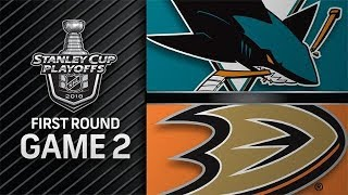NHL 18 PS4. 2018 STANLEY CUP PLAYOFFS FIRST ROUND GAME 2 WEST: SHARKS VS DUCKS. 04.14.2018. (NBCSN)!