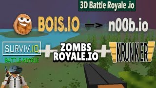 Bois.io - SUPER IO GAMES PLAY vs n00b.io ! // Epic Surviv.io vs Zombsroyale.io vs Krunker.io