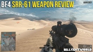 Battlefield 4 (PS3) - SRR-61 Weapon Review - Long Range Sniper Rifle (BF4 Gameplay)