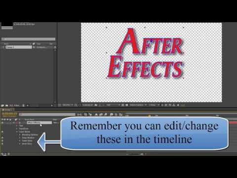 AE Basics 36: Pimping Your Text With Layer Styles