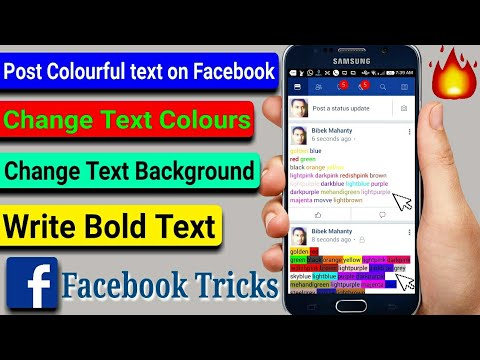 how to write in color on facebook