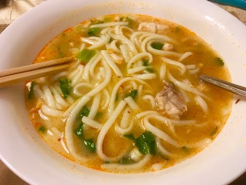 How To Make Lao Chicken Noodle Soup Or Kao Piak Sen