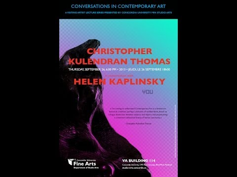 Christopher Kulendran Thomas in conversation with Helen Kaplinsky