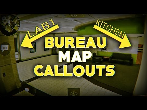 CALLOUTS ON BUREAU FOR SCRIMS/COMPETITIVE MATCHES!!! - Very Useful - Critical Ops