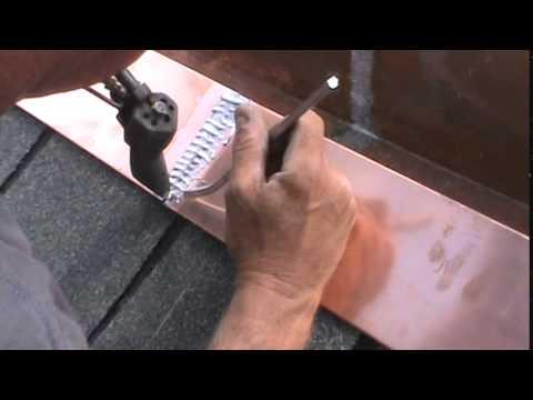 Soldering a Box Gutter - Stitching
