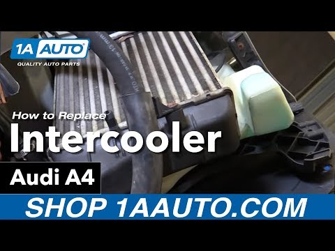 How to Install Replace Intercooler 2005-08 Audi A4
