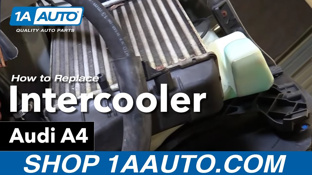 How To Replace Intercooler 04 09 Audi A4 Youtube Cat 3 4b Engine Diagram