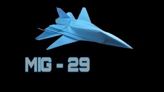 Origami Plane - Best Paper Airplane - How To Make A Paper Jet Mig 29 | Origami Paper