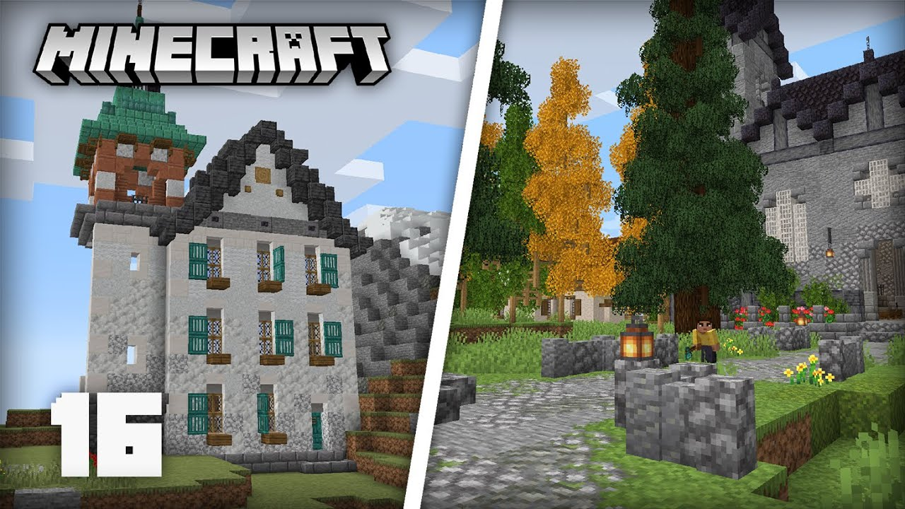 Building a Monastery & Decorating the Village! | Minecraft 1.17 Survival Lets Play