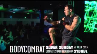 Les Mills BODYCOMBAT® 56 at Super Sunday 2013