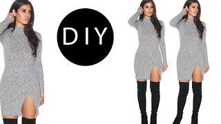 DIY Dress with Slit (easy)