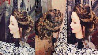 Плетение кос - простая прическа с косой вокруг головы