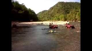 ATV river crossing in the Jungle of Puerto Vallarta.3GP