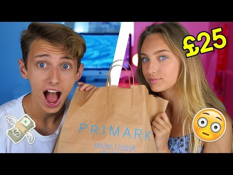 £25 PRIMARK CHALLENGE VS MY LITTLE SISTER!! (BROTHER VS SISTER)