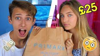 £25 PRIMARK CHALLENGE VS MY LITTLE SISTER!! (BROTHER VS SISTER) GeorgeMasonTV