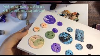 How to make Polymer Clay Buttons Thumbnail