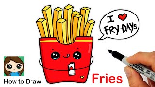 Learn How to Draw French Fries  Cute Pun Art #9