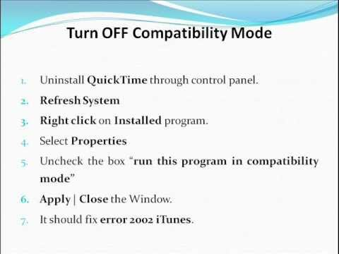 How To Fix Error 2002 iTunes - YouTube