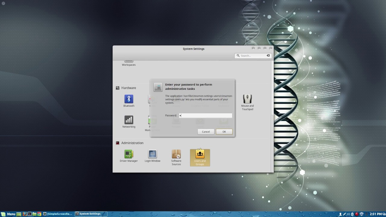 Linux Mint 17 2 Remove password from log in screen