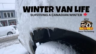 Canadian Winter living In A Van | Staying Warm (Last Video With Disco)
