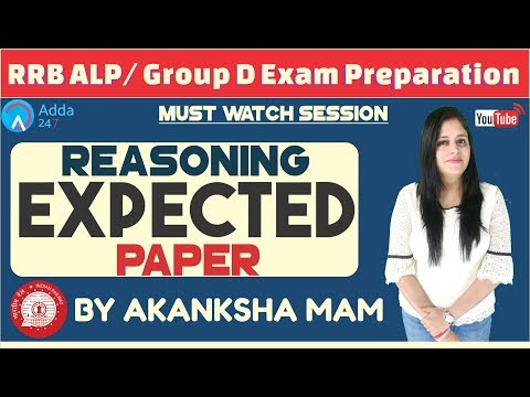 Expected Paper For RRB ALP/GROUP D By Akanksha Mam | Reasoning