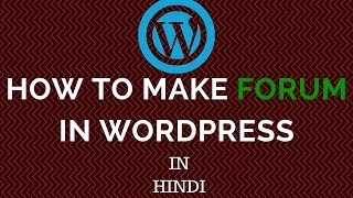 Start your own wordpress website now - http://in.bluehost.com/?utm_source=affiliate&a_aid=822e0b34 in this video i will show you how to make a (((forum))) li...
