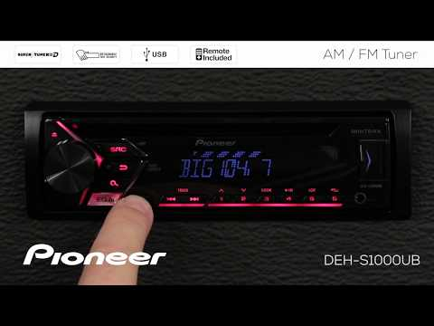 How To - DEH-S1000UB - AM/FM Radio Tuner