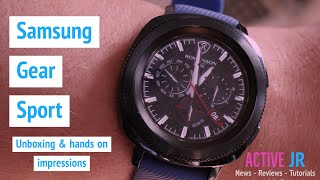 Samsung Gear sport hands on review , unboxing and iphone setup - Wow, what a display