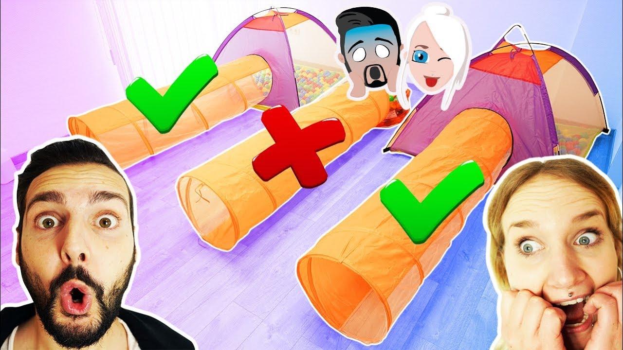 Download WÄHLE NICHT FALSCHEN TUNNEL SCHLEIM CHALLENGE! Schleimzutaten oder Strafe! Kaan vs Nina machen Slime