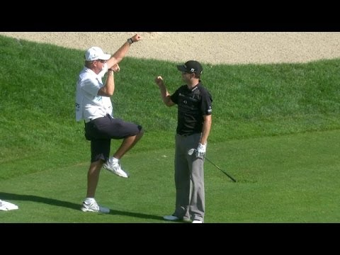 Zach Johnson's masterful chip-in for eagle on No. 15 at Travelers