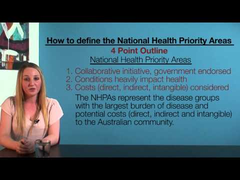 The National Health Priority Areas