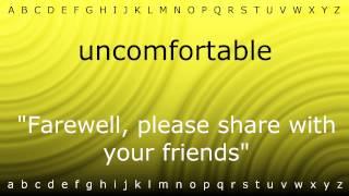 how to pronounce uncomfortable with zira mp4