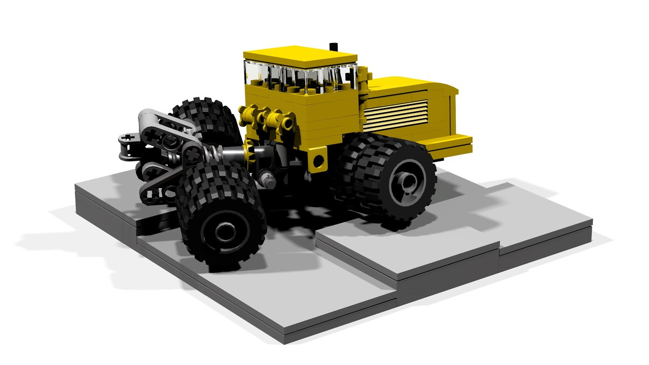 Articulated Tractor Toys And Joys : Massive articulated tractor Кировец small lego toy with