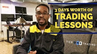 FOREX TRADING - 3 Days of Trading Lessons