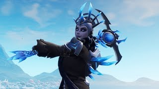 "NEW LEGENDARY SKIN OF ""THE ICE QUEEN""! PICKAXE ""WINTRY MESSENGER""! Fortnite"