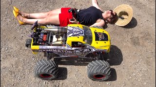 """RCMAX 80cc SUPREME GAS ENGINE - RiPPiNG in a HUGE 80lb RAMINATOR """"TOY"""" MONSTER TRUCK 