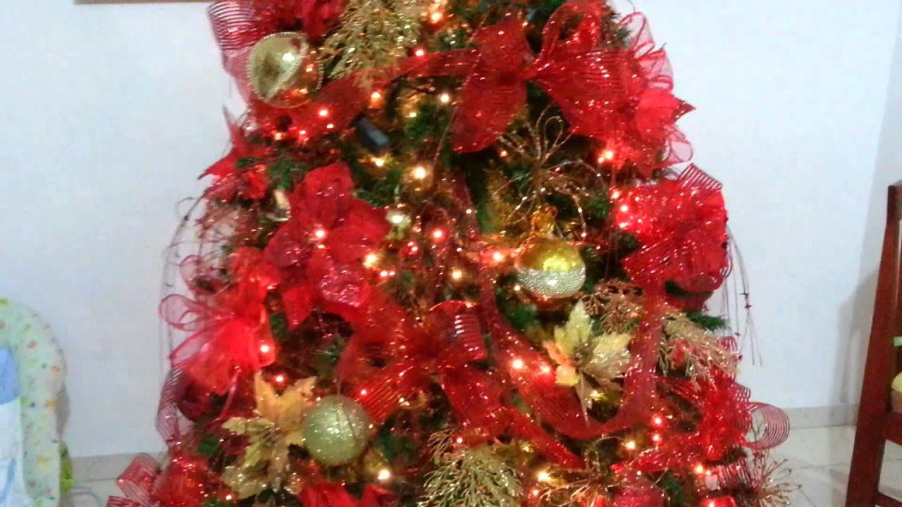 Dise o decoracion arbol de navidad rojo tendencias 2017 al - Arbol de navidad adornos ...
