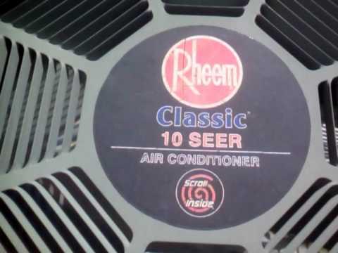 Rheem 10 Seer Air Conditioner Capacitor Sante Blog