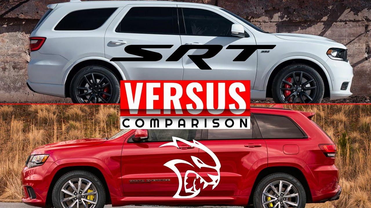 2018 grand cherokee trackhawk vs 2018 durango srt doovi. Black Bedroom Furniture Sets. Home Design Ideas