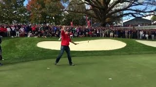 Golf Heckler Shows Up The Pros By Sinking Putt, Complete With Victory Dance