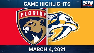 NHL Game Highlights | Panthers vs. Predators - March 04, 2021