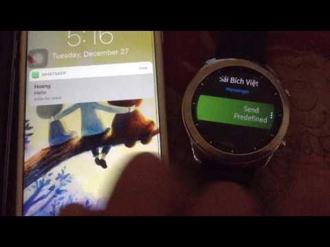 Gear S3 & S2: Send Direct Messages To WhatsApp, FB Messenger, Telegram, Line, KakaoTalk,  Hangouts